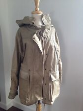 ALL SAINTS SPITALFIELDS Canvas Distressed Look Parka Military Style Jacket S