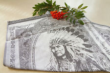 NEW Luxurious Jacquard American Indian Southwest Kitchen Dish Tea Towel Black
