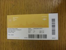 19/03/2012 Ticket: Manchester City v Chelsea  . Thanks for viewing this item, we