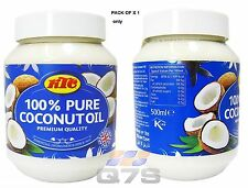 KTC 100% Pure Coconut Multi-purpose Oil 500ml Jar - Pack of 1 Only
