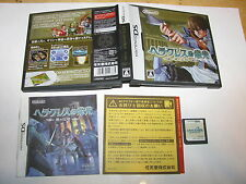 Heracles no Eikou Glory of Heracles Nintendo DS NDS Japan import