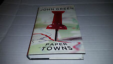 Paper Towns by John Green (2008, Hardcover) SIGNED Later Printing