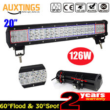 126W Spot Flood Combo Led Light Bar OffRoad SUV 4WD bateau ATV lampe 20 pouces
