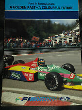 FORD FORMULA ONE BENETTON B187 B186 BEATRICE 1987 ALAN JONES BOUTSON COSWORTH F1