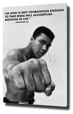 "MUHAMMAD ALI CANVAS ART PRINT POSTER PHOTO 30""x20"" INSPIRATIONAL QUOTE BOXING"