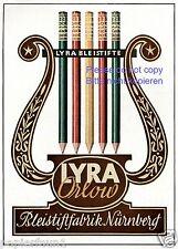 Bleistift Fabrik Lyra Nürnberg Reklame von 1943 !!! Orlow Werbung ad pencil +