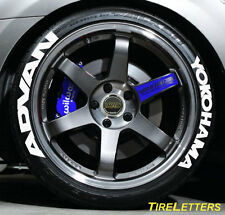 "TIRE LETTERS - RAISED WHITE RUBBER LETTERING - 1.25"" advan yokohama - SALE SALE"