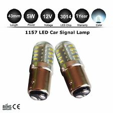 2X Bay15d 1157 Car White 48 SMD LED Tail Brake Stop Signal Light Bulb P21W/5W