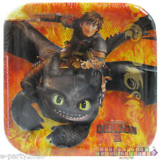 HOW TO TRAIN YOUR DRAGON 2 SMALL PAPER PLATES (8) ~ Birthday Party Supplies Cake