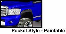 Fender Flares for 2002-2008 Dodge Ram Bolt on Pocket Rivet Style Set of 4 Matte