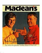 """Gordie Howe and Bobby Orr -Who's the best?"""" - very RARE!!!"""