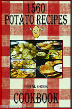 1560 Delicious Recipes For Potatoes E-Book Cookbook CD-ROM