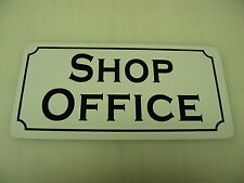 SHOP OFFICE Metal Sign Vintage Style 4 New Home Building Car Garage Body Paint