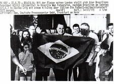 Original Press Photo World Cup 1970 Brazil Fans celebrate winning Cup 22.6.1970