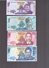 Malawi set of 6 PCS 20;50;100;200;500;1000 Kwacha, 2012 P New, UNC
