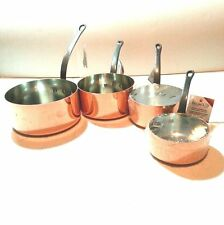 FRENCH COPPER COOKWARE BAUMALU SET 4 PC 2MM SAUCEPAN/POT/SAUCIER/SAUTE