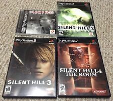 PS1 PS2 SILENT HILL 1 2 3 4 black label video game lot Excellent Condition