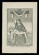 santino stampa popolare 1800 MARIA SS. DELLA PIETA'
