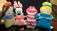 4 Disney Pook A Looz Cheshire Cat Snow White Minnie Mouse Cinderella Plush