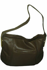 B MAKOWSKY GIAMMA LEATHER TRUFFLE MEDIUM SHOULDER HOBO BAG - 100% Authentic