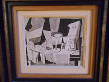 Nature morte cubsite datée 1946 style Picasso, Braque