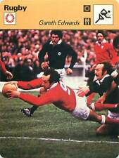 FICHE CARD: 1978  Gareth Edwards Pays de Galles Rugby Union RUGBY à XV 1970s