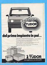 QUATTROR981-PUBBLICITA'/ADVERTISING-1981- TUDOR BATTERIE AUTO