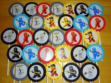 30 NINJAGO personalized cupcake toppers birthday party favors decoration