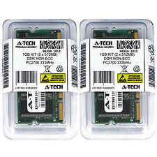 1GB KIT 2 x 512MB SODIMM DDR NON-ECC PC2700 333MHz 333 MHz DDR-1 1G Ram Memory