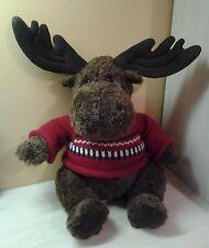 """Gund Brown Moose Reindeer Plush Knit Sweater 23"""" stuffed animal"""