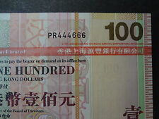 HONG KONG 2008 HSBC 100 DOLLARS, FANCY REPEATER NUMBER PR 444666, ULTRA GEM UNC