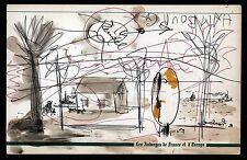 dessin HAMBOURG FOUJITA ZENDEL et LYS (authenticité garantie) délire d'artistes