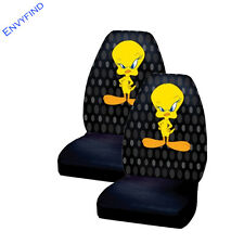 New 2 Front Seat Covers Paramount Pictues Looney Tunes Tweety Bird Attitude Pair