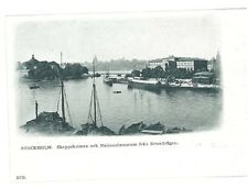 B82370 Sweden Stockholm Skeppsholmen ship boat 1900  front/back image