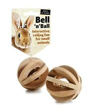 Bell N Ball Small Animal Toy rabbit guinea pig hamster rat ferret chinchilla etc