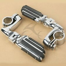 """1-1/4"""" 1.25"""" 32mm Engine Bars Highway Foot Rest Pegs For Harley Touring Models"""
