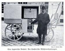 Eine hygienische Neuheit: Der Kuchler'sche Milchetransportwagen 1910