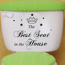 Best Seat Fashion Toilet Commode Sticker Bathroom Decal Home Decor Art Removable