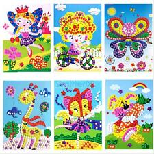 Funny 3D Crystal Mosaics Sticker Handmade DIY Developmental Puzzle Kid Craft Toy