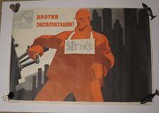 """Original Vintage Russian Soviet Cold War Propaganda Poster 1968 32"""" x 22"""""""