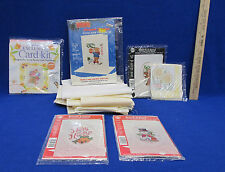 Vintage Cross Stitch Embroidery Needle Work Floral Snowman Fabric & Patterns