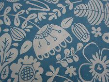 Harlequin/Scion Curtain Fabric 'Ester' 3.25 METRES Cobalt/Chalk 100% Cotton