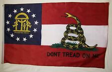 Georgia Don't Tread On Me Flag 3' x 5' Gun Rights Tea Party USA Banner
