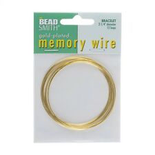 Memory Wire Bracelet Gold Plated 12 Turns 2.25 Inch Diameter (E41/8)