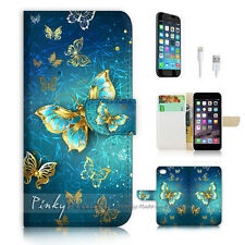 iPhone 7 (4.7') Flip Wallet Case Cover P1774 Butterfly