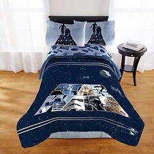 Star Wars Boys Classic Logo Full Double Comforter & Sheet Set 5 Pc Bed In A Bag
