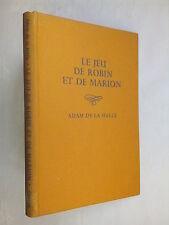 ADAM DE LA HALLE.LE JEU DE ROBIN ET DE MARION.1ST 1960.FRENCH MUSICAL PLAY.RARE