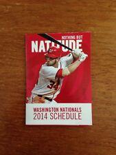2014 Washington Nationals Pocket Schedule