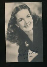 Film Theatre PATRICIA ROC personally signed Plain Back Card