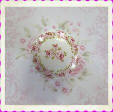 Pink Roses Ceramic Knob floral chic shabby flowers drawer desk kitchen office